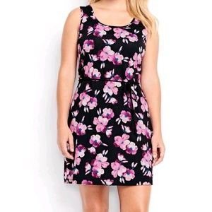 LANDS END Swim Cover Up Dress Floral sizes 1X, 2X